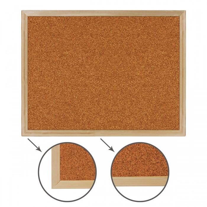 Доски и мольберты Brauberg Доска пробковая деревянная рамка 45х60 см доски и мольберты brauberg доска пробковая алюминиевая рамка 60х90 см