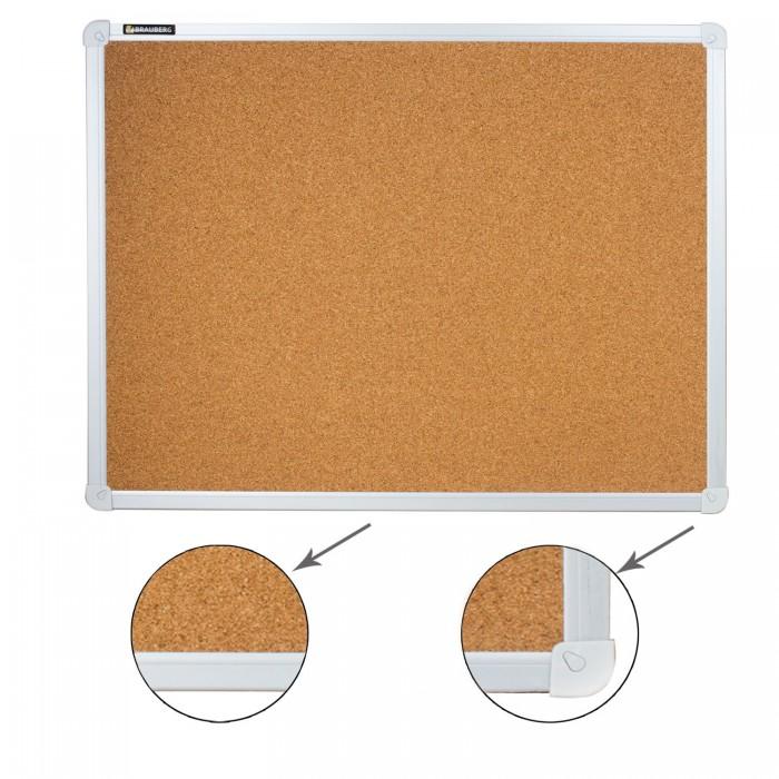 Доски и мольберты Brauberg Доска пробковая алюминиевая рамка 45х60 см цена