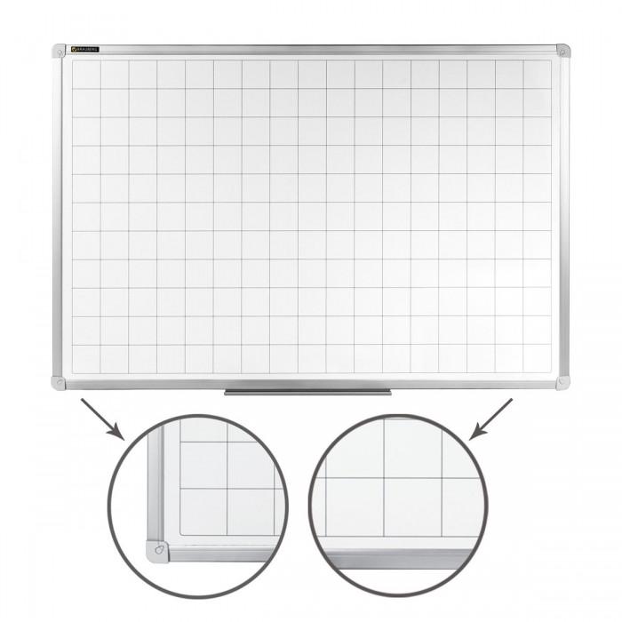 Купить Доски и мольберты, Brauberg Доска магнитно-маркерная линовка алюминиевая рамка 60х90 см