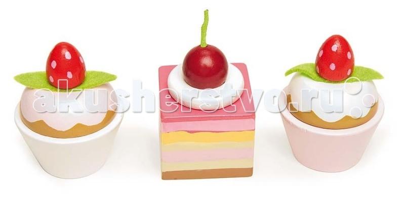 Деревянные игрушки LeToyVan Набор пирожных еда еда