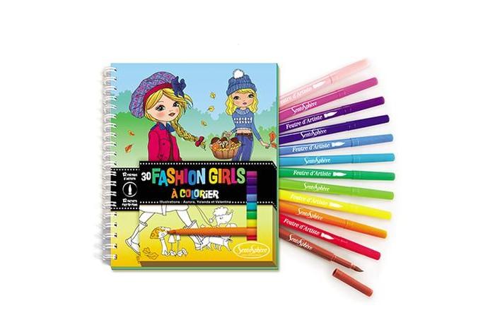 Творчество и хобби , Раскраски SentoSpherE Набор для детского творчества с фломастерами 9104 арт: 527241 -  Раскраски