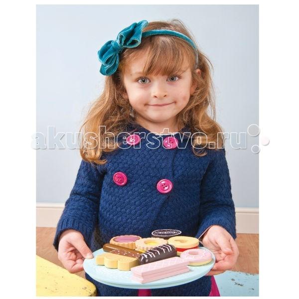Деревянные игрушки LeToyVan Игрушечная еда Тарелка с печеньем еда еда