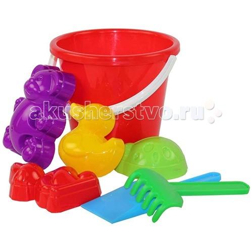 Игрушки для зимы Альтернатива (Башпласт) Набор для игры с песком Зоопарк №2 каталки альтернатива башпласт слонёнок
