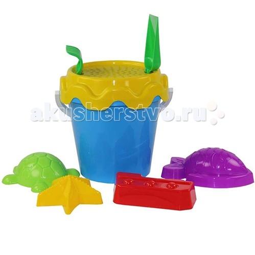 Игрушки для зимы Альтернатива (Башпласт) Набор для игры с песком Морской №1 каталки альтернатива башпласт слонёнок