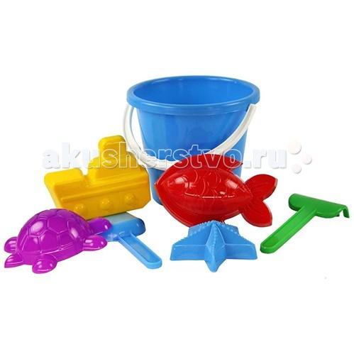 Игрушки для зимы Альтернатива (Башпласт) Набор для игры с песком Морской №2 каталки альтернатива башпласт слонёнок