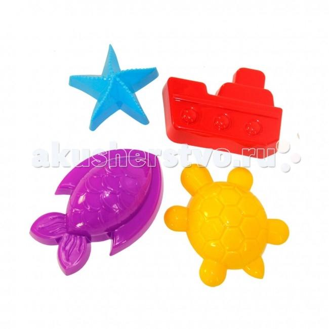 Игрушки для зимы Альтернатива (Башпласт) Формочки для песка Морские каталки альтернатива башпласт слонёнок
