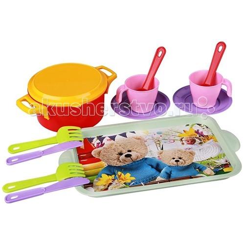 Ролевые игры Альтернатива (Башпласт) Набор детской посуды Хозяйка 1914М каталки альтернатива башпласт слонёнок