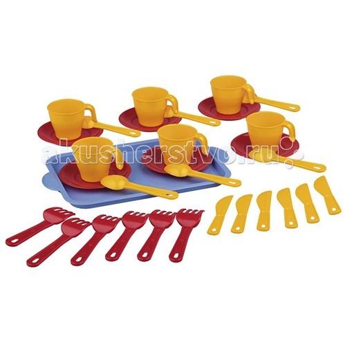Ролевые игры Альтернатива (Башпласт) Набор детской посуды Хозяйка 2224М каталки альтернатива башпласт слонёнок