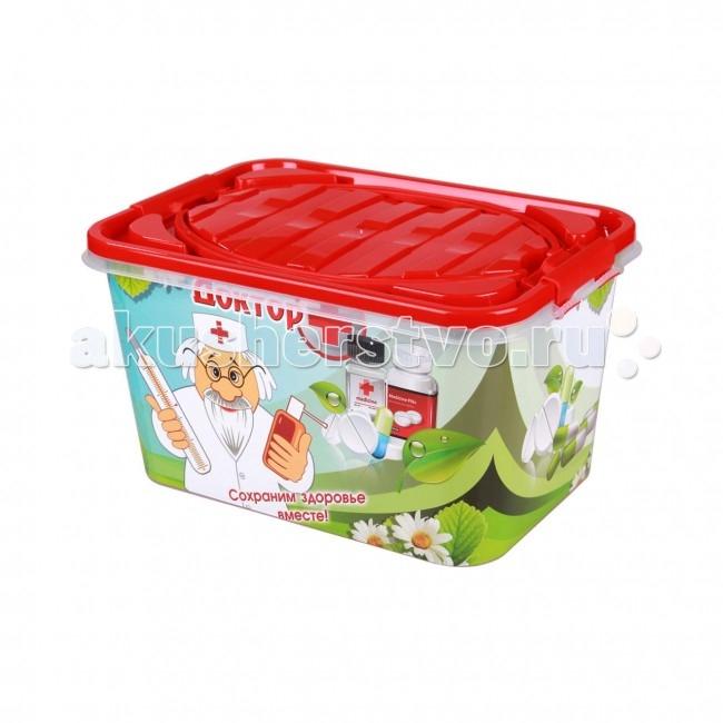 Ящики для игрушек Альтернатива (Башпласт) Контейнер Доктор+ прямоугольный 7 л ящики для игрушек альтернатива башпласт контейнер доктор прямоугольный 7 л