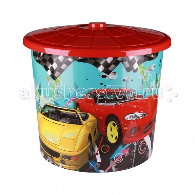 Ящики для игрушек Альтернатива (Башпласт) Бак детский Форсаж 75 л с крышкой каталки альтернатива башпласт слонёнок
