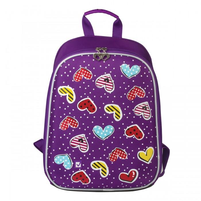 Развитие и школа , Школьные рюкзаки Brauberg Ранец Сердечки арт: 529006 -  Школьные рюкзаки