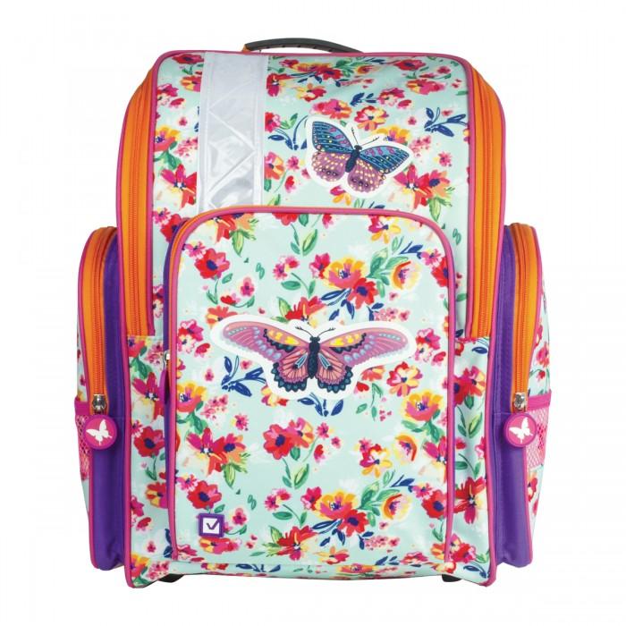 Развитие и школа , Школьные рюкзаки Brauberg Бабочка в цветах арт: 529081 -  Школьные рюкзаки
