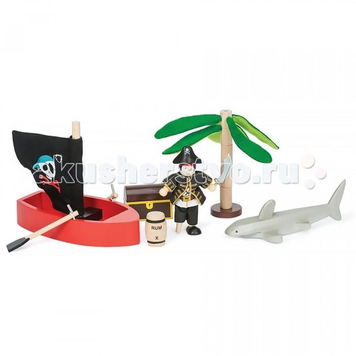 Деревянные игрушки LeToyVan Игровой набор Пиратское приключение с фигуркой пирата, Деревянные игрушки - артикул:529421