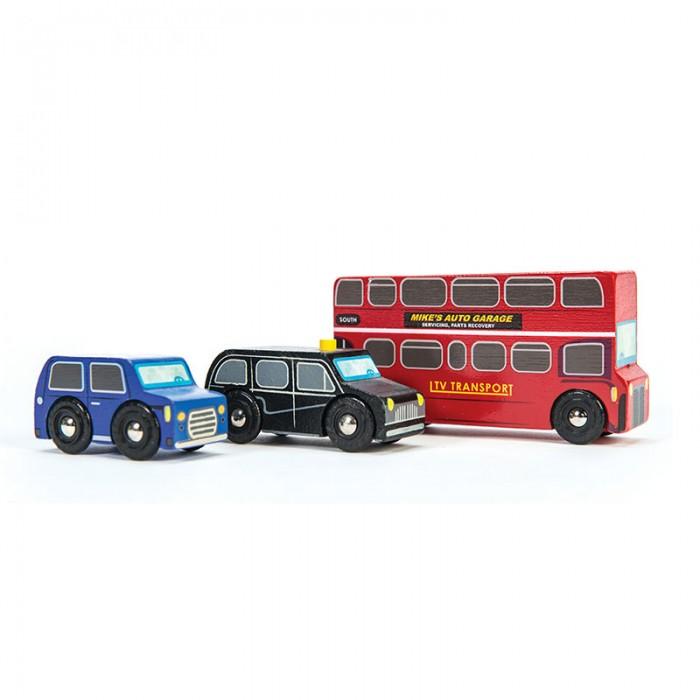 Деревянные игрушки LeToyVan Набор машинок Маленький Лондон