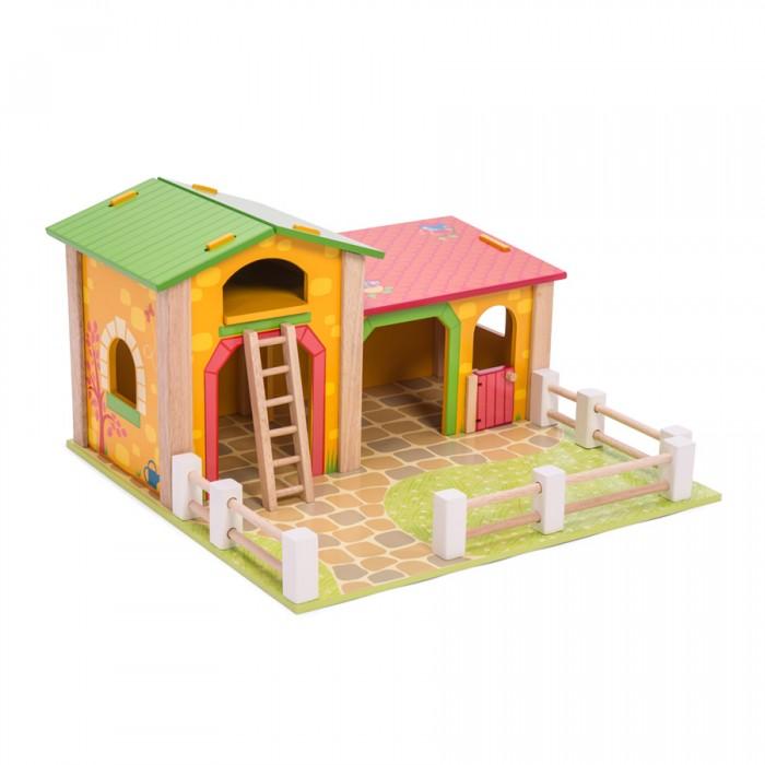 Деревянные игрушки LeToyVan Игровой набор Фермерский дворик, Деревянные игрушки - артикул:529531