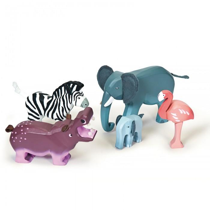 Деревянные игрушки LeToyVan Игровой набор Дикие животные, Деревянные игрушки - артикул:529551