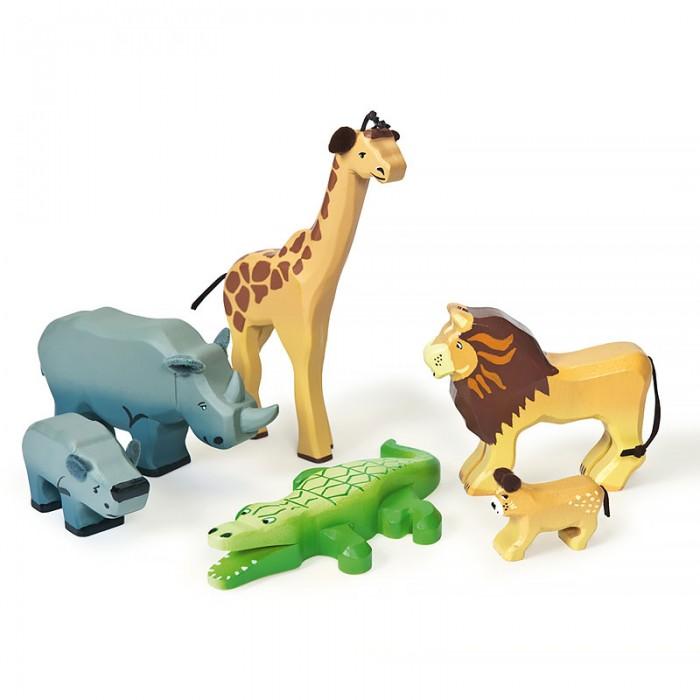 Деревянные игрушки LeToyVan Игровой набор Животные саванны, Деревянные игрушки - артикул:529556