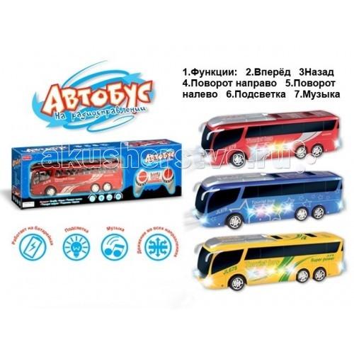 Машины Zhorya Автобус с подсветкой на р/у shantou туристический автобус