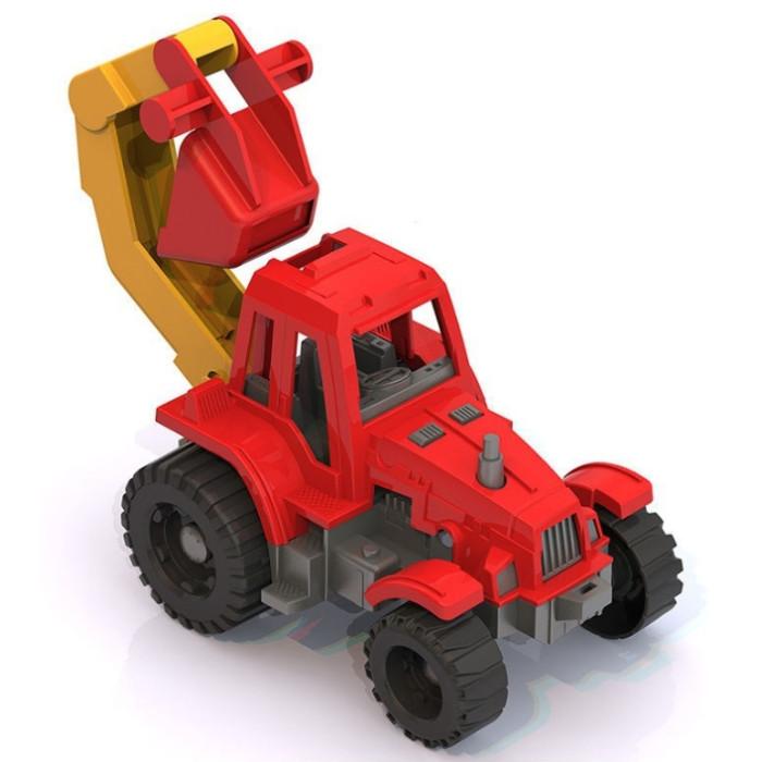 Машины Нордпласт Трактор Ижора с ковшом машины нордпласт трактор ангара с грейдером и ковшом