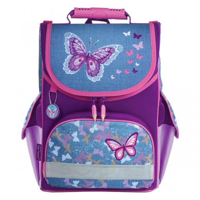 Развитие и школа , Школьные рюкзаки Tiger Family Ранец Denim Butterflies арт: 531526 -  Школьные рюкзаки