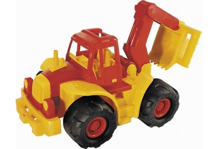 Машины Нордпласт Трактор Богатырь мини с ковшом машины нордпласт трактор ангара с грейдером и ковшом