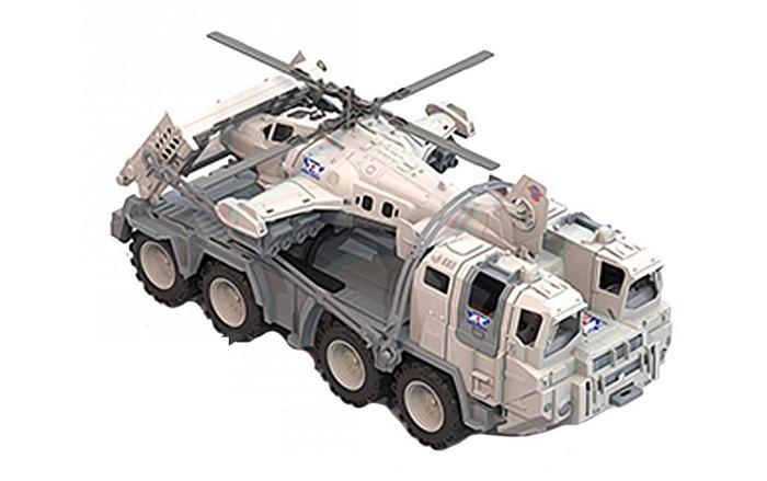 Машины Нордпласт Тягач военный Арктика с вертолетом нордпласт игрушка нордпласт боевая машина пехоты арктика белый