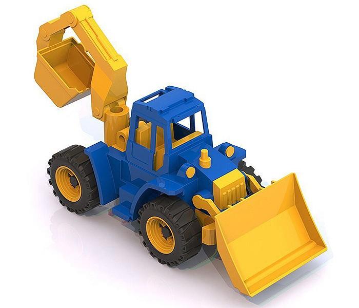 Машины Нордпласт Трактор Ангара с грейдером и ковшом машины нордпласт трактор ижора с ковшом