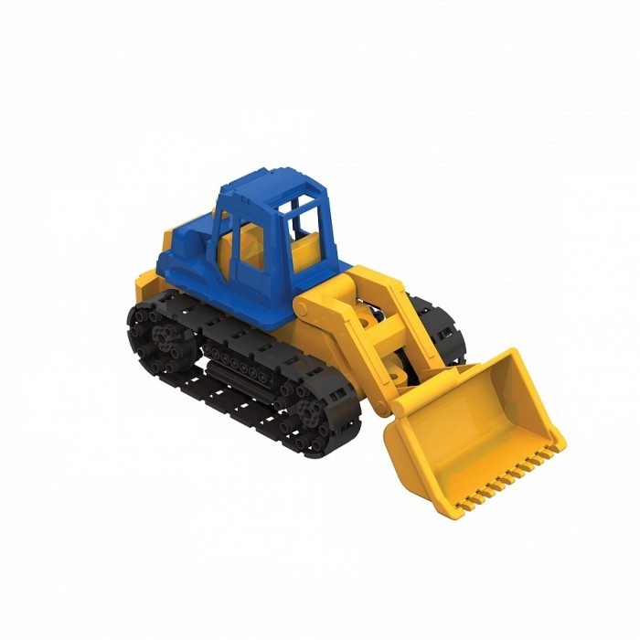 Машины Нордпласт Трактор Байкал с грейдером машины tomy трактор john deere monster treads с большими резиновыми колесами