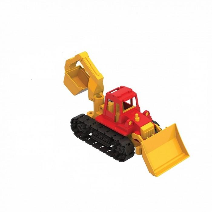 Машины Нордпласт Трактор Байкал с грейдером и ковшом машинки нордпласт трактор ижора с ковшом