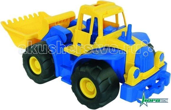 Машины Нордпласт Трактор Богатырь с грейдером машины tomy трактор john deere monster treads с большими резиновыми колесами