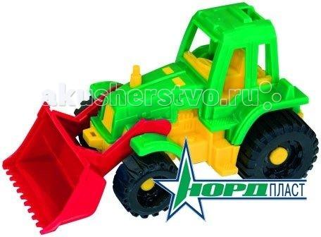 Машины Нордпласт Трактор Ижора с грейдером трактор нордпласт богатырь с грейдером 68 см разноцветный 099