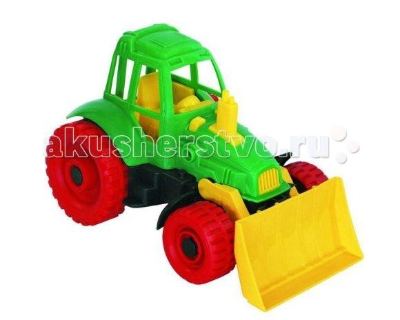 Машины Нордпласт Трактор с грейдером машины tomy john deere трактор monster treads с большими колесами и вибрацией