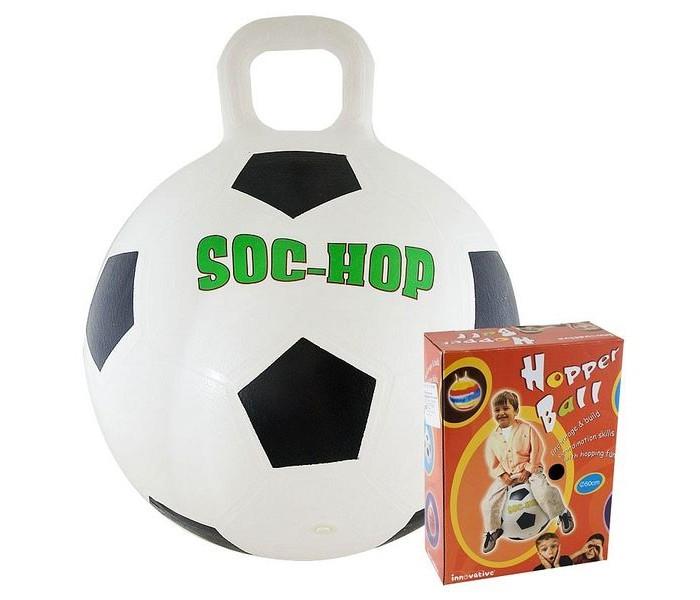 Мячики и прыгуны Innovative Мяч-попрыгун с ручкой Футбол 50см