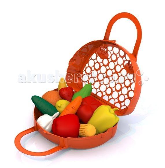 Фото - Ролевые игры Нордпласт Набор 12 предметов в корзинке ролевые игры нордпласт набор фрукты овощи 13 предметов