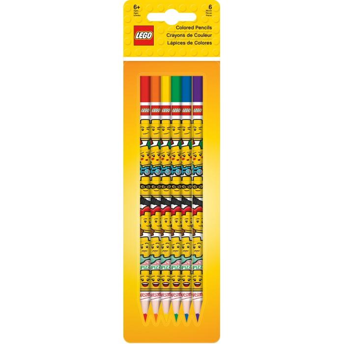 Карандаши, восковые мелки, пастель Lego Iconic Набор из 6 цветных карандашей подарочный набор цветных карандашей