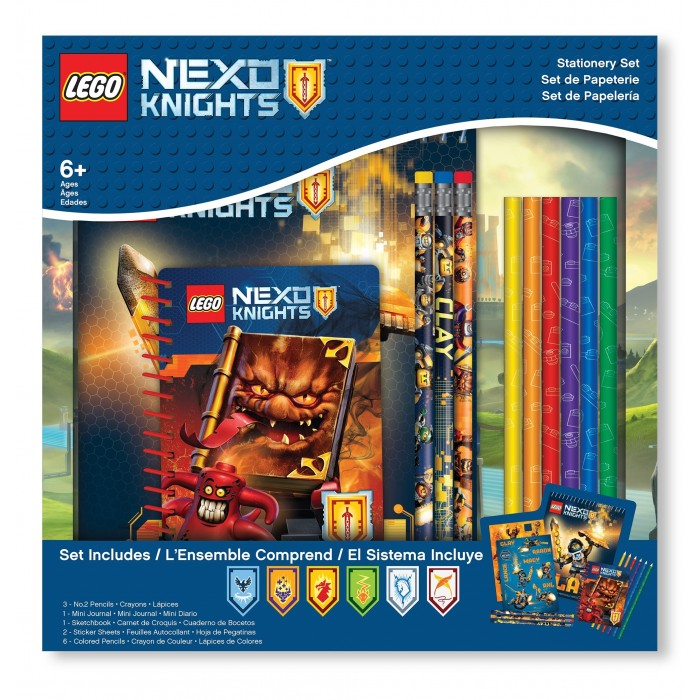 Канцелярия Lego Nexo Knights Набор канцелярских принадлежностей 13 шт.
