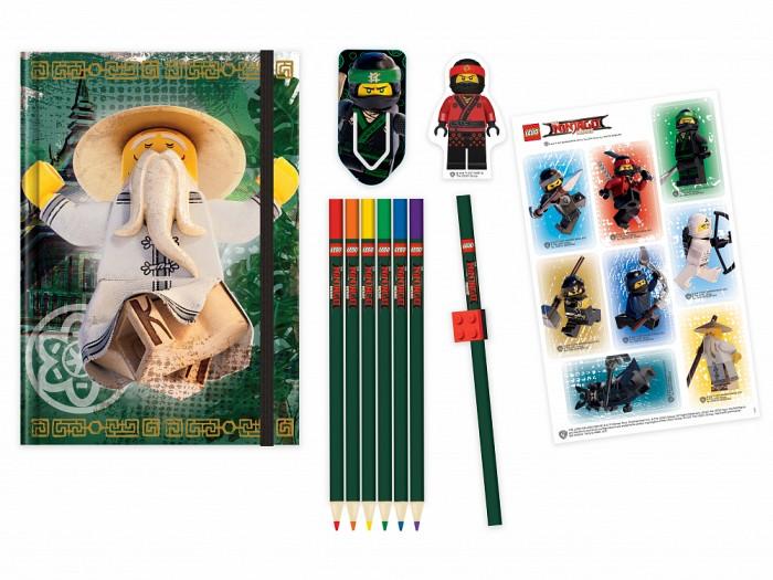 Фото - Канцелярия Lego Ninjago Movie Набор канцелярских принадлежностей 12 шт. карандаши восковые мелки пастель lego набор карандашей с насадками в форме кирпичика batman movie 2 шт