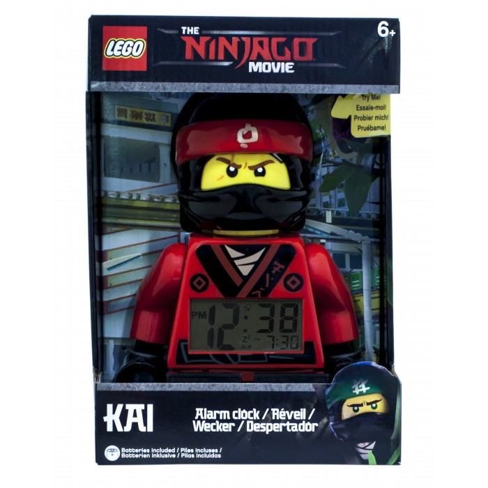 Часы Lego Ninjago Movie Будильник минифигура Kai вытяжка zanussi zhc92661xa