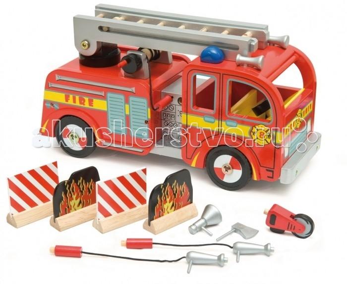 Машины LeToyVan Игровой набор Пожарная машина деревянные игрушки letoyvan игровой набор кролик и морковка