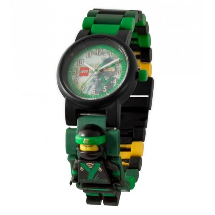 Часы Lego Ninjago Movie наручные с минифигурой Lloyd на ремешке