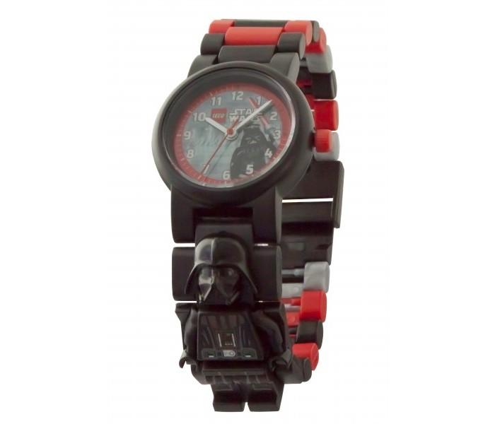 Часы Lego Star Wars наручные с минифигурой Darth Vader на ремешке