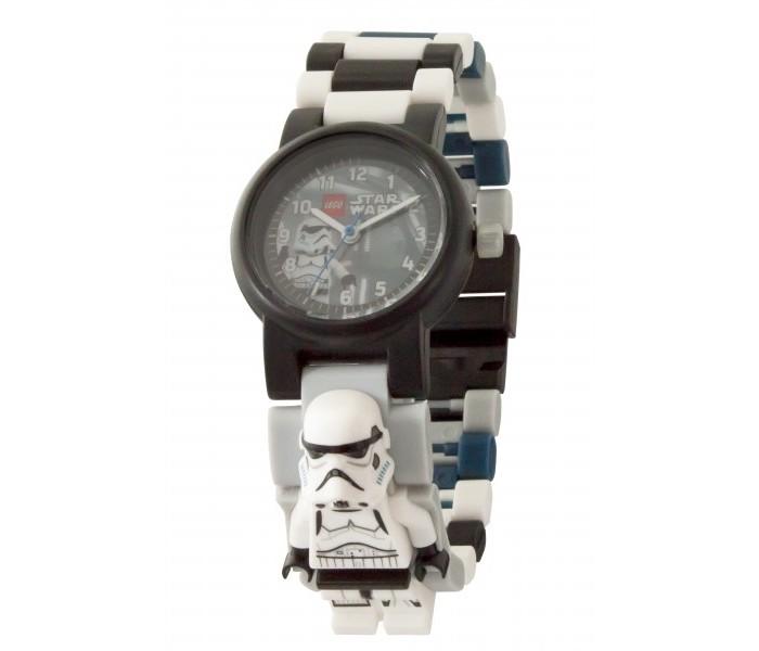 Часы Lego Star Wars наручные с минифигурой Stormtrooper на ремешке
