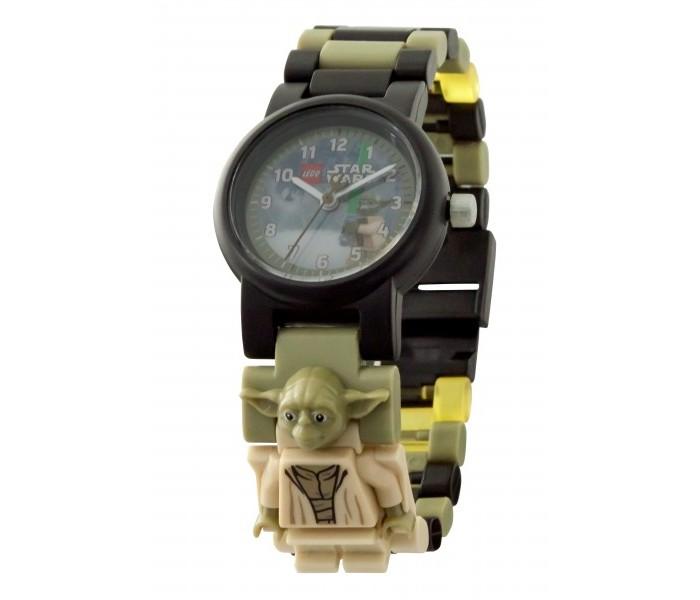 Часы Lego Star Wars наручные с минифигурой Yoda на ремешке