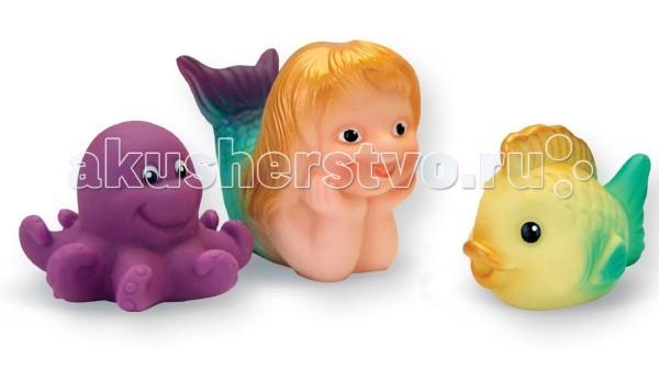 Игрушки для ванны Огонек Набор игрушек для купания Русалочка игрушки для ванны tolo toys набор ведерок квадратные