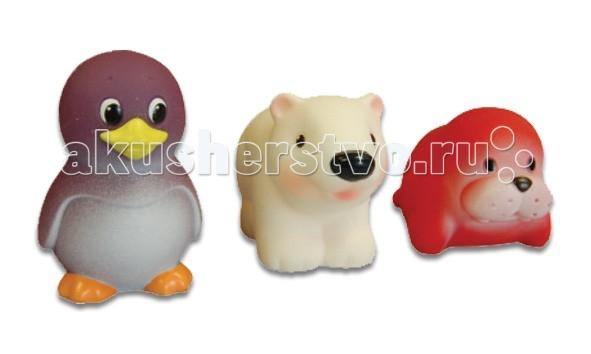 Игрушки для ванны Огонек Набор игрушек для купания Север игрушки для ванны tolo toys набор ведерок квадратные