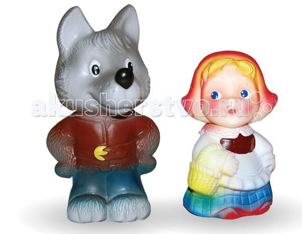 Игрушки для ванны Огонек Набор игрушек для купания Красная шапочка и волк игрушки для ванны tolo toys набор ведерок квадратные