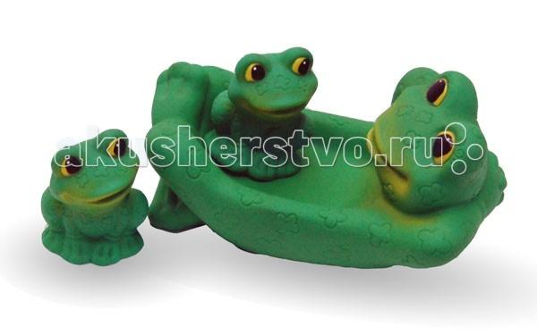 Игрушки для ванны Огонек Набор игрушек для купания Лягушка с лягушатами