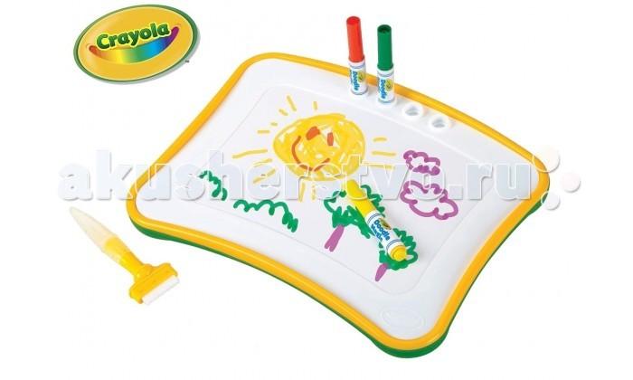 Crayola Doodle Magic Crayola Доска для рисованияDoodle Magic Crayola Доска для рисованияCrayola Doodle Magic Crayola Доска для рисования - специальная доска для рисования из линейки Doodle Magic поможет значительно упростить жизнь юного художника. Дело в том, что следы от маркеров, сделанных по этой технологии, легко удаляются со всех поверхностей при помощи обычной воды. Еще одним преимуществом данного набора является то, что ребенку не обязательно искать бумагу для рисования. Поверхность доски рассчитана на многократное использование.  Помимо самой доски в комплект входят тряпочка и губка-щеточка. При помощи этих аксессуаров можно удалить следы маркеров со всех поверхностей. Даже с одежды малыша.   Также в набор включены четыре специальный маркера Doodle Magic.   Рекомендуется для детей от 3 лет.<br>