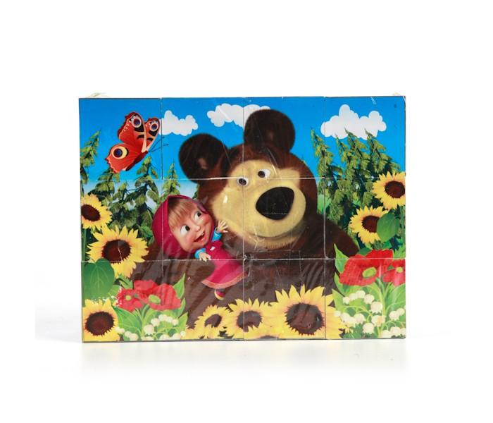 Развивающие игрушки Играем вместе Набор кубиков Маша и медведь 12 шт.