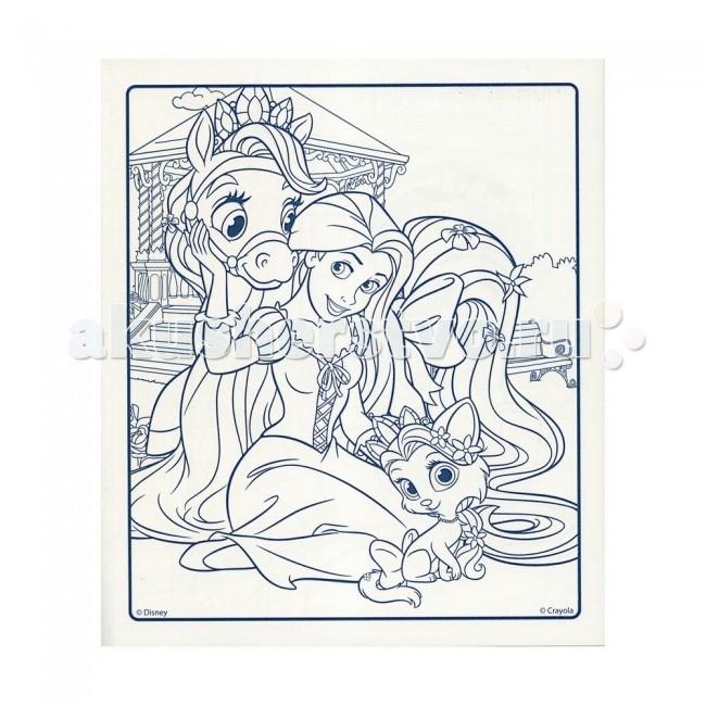 Раскраски Crayola Набор c раскраской и фломастерами Принцессы Дисней раскраска crayola color wonder принцессы 12785